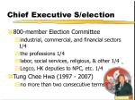 chief executive s election