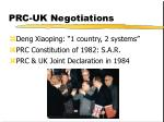 prc uk negotiations