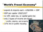 world s freest economy