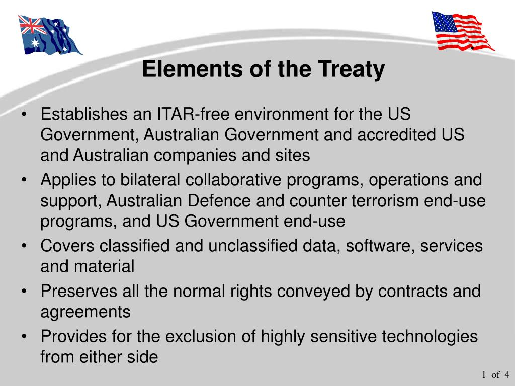 elements of the treaty l.