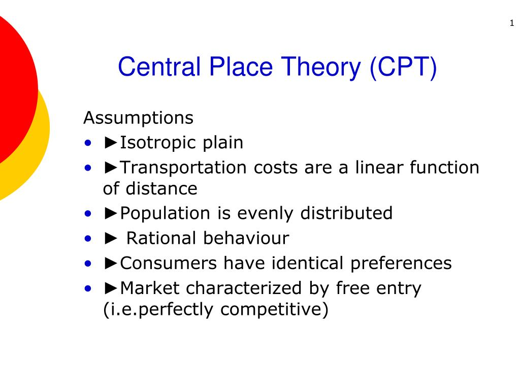 central place theory cpt l.