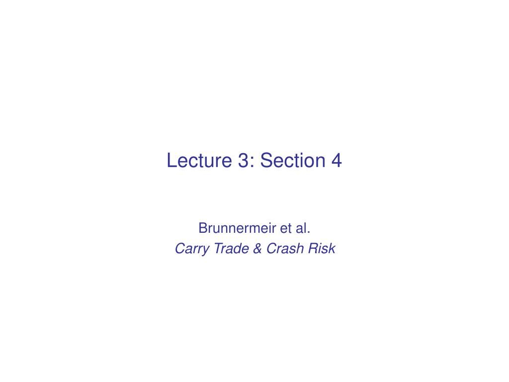 Lecture 3: Section 4