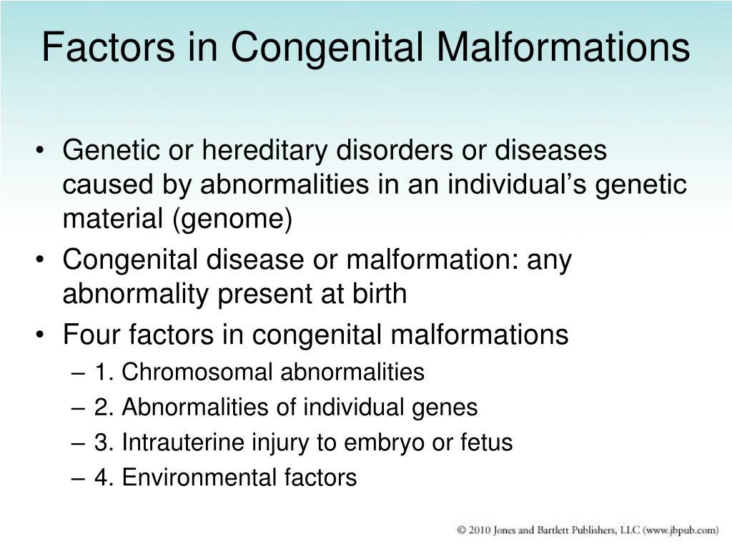 Factors in Congenital Malformations