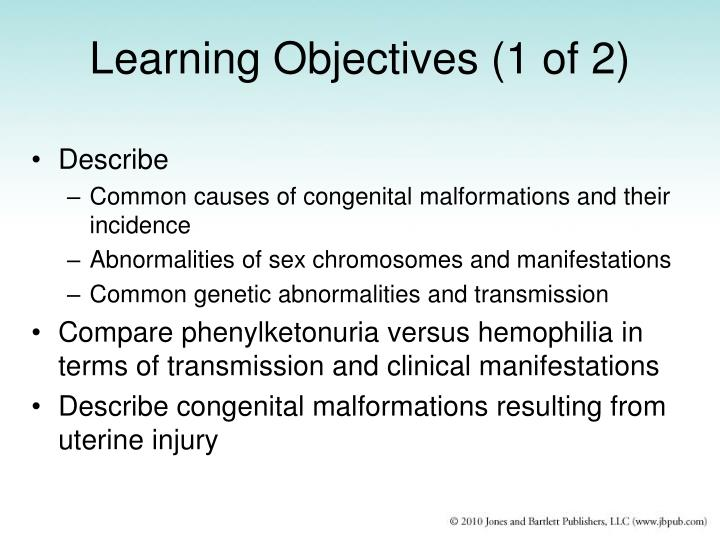 Learning objectives 1 of 2