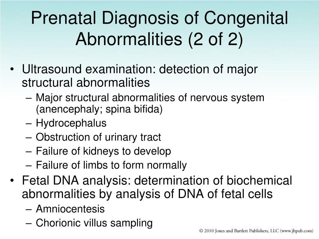 Prenatal Diagnosis of Congenital Abnormalities (2 of 2)