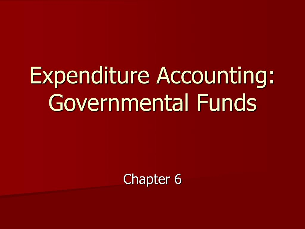 expenditure accounting governmental funds l.