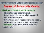 how governments determine citizen participation27