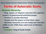 how governments determine citizen participation28
