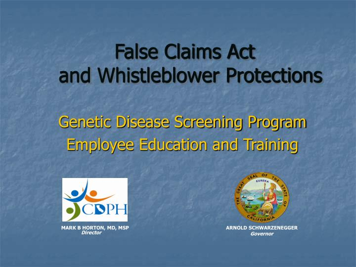 False claims act and whistleblower protections