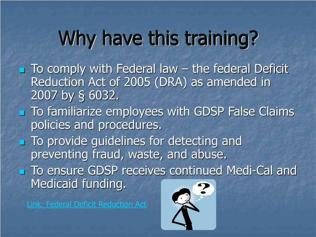 Why have this training?