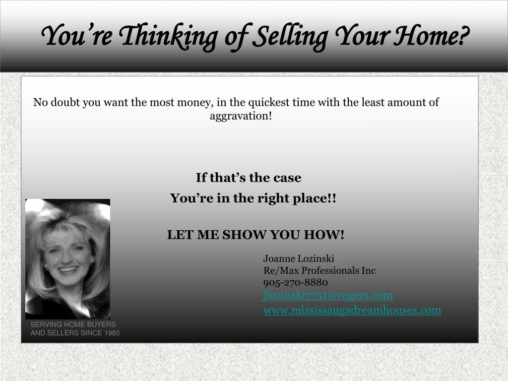 you re thinking of selling your home l.