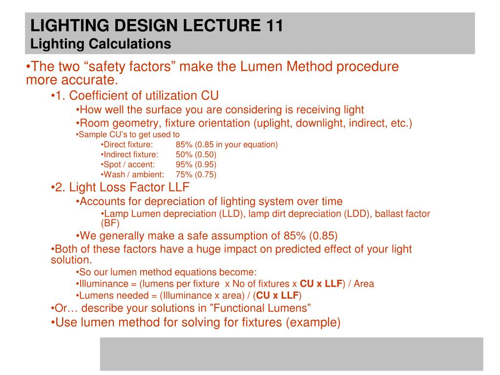 Ppt Lighting Design Lecture 10 March 29th Lighting