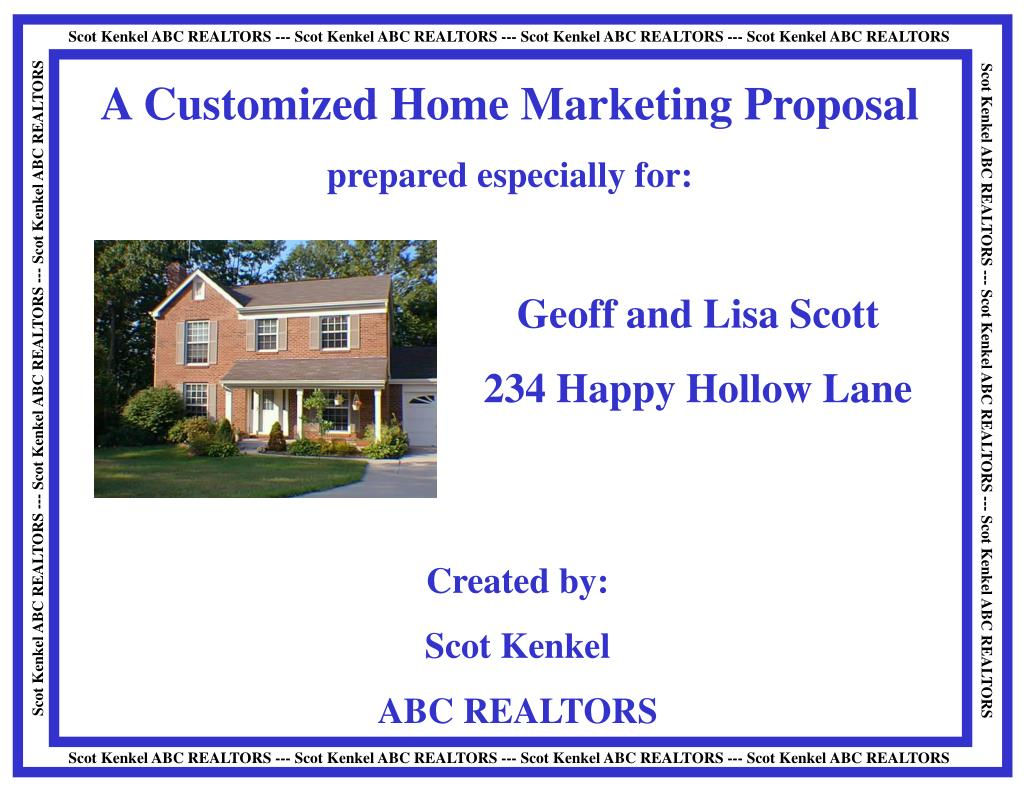 A Customized Home Marketing Proposal