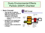 dusty environmental effects particle deep chamber