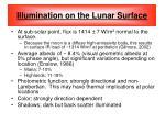 illumination on the lunar surface