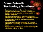 some potential technology solutions