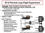 st 8 thermal loop flight experiment