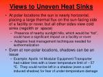 views to uneven heat sinks