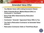 amended value offer23