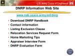 dnrp information web site