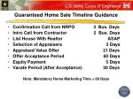 guaranteed home sale timeline guidance