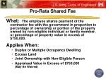 pro rata shared fee