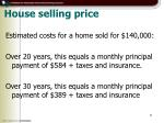 house selling price