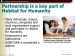 partnership is a key part of habitat for humanity
