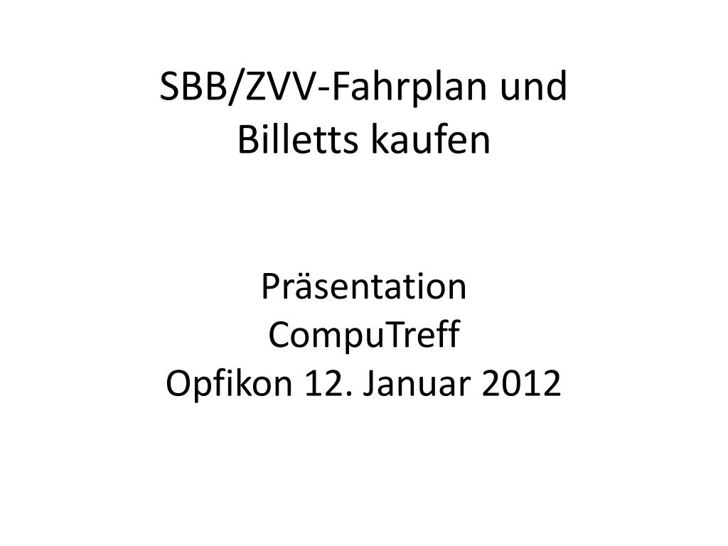zvv fahrplan 2012