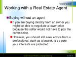 working with a real estate agent31
