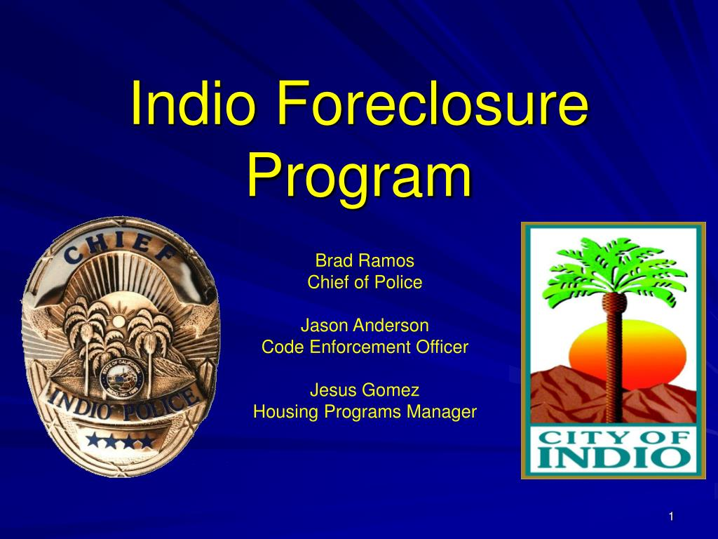 indio foreclosure program l.