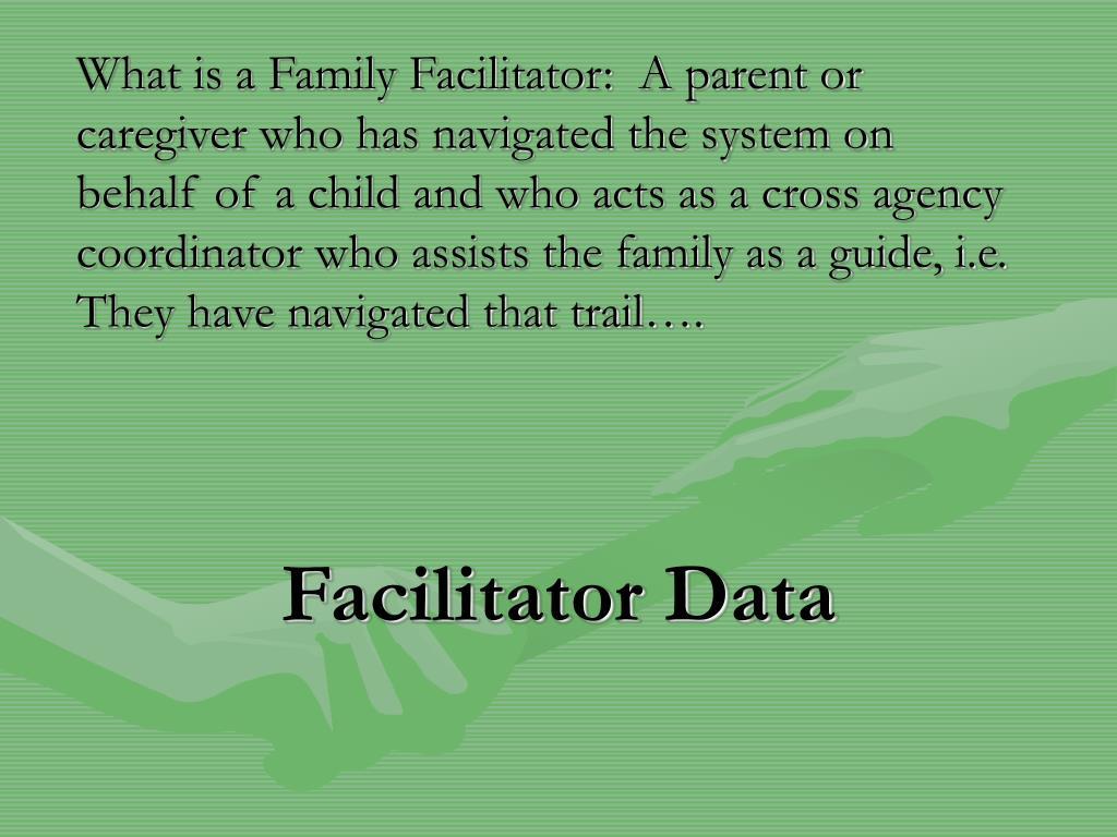 Facilitator Data