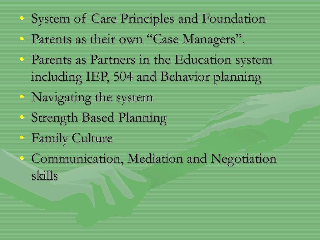 System of Care Principles and Foundation