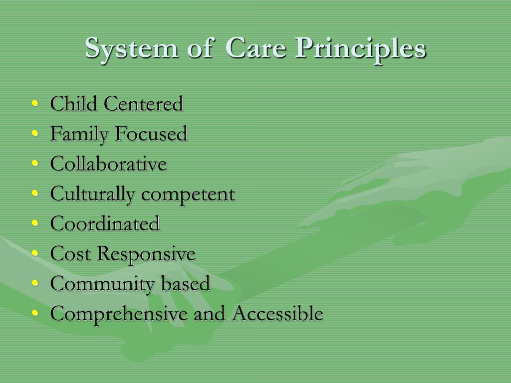 System of Care Principles