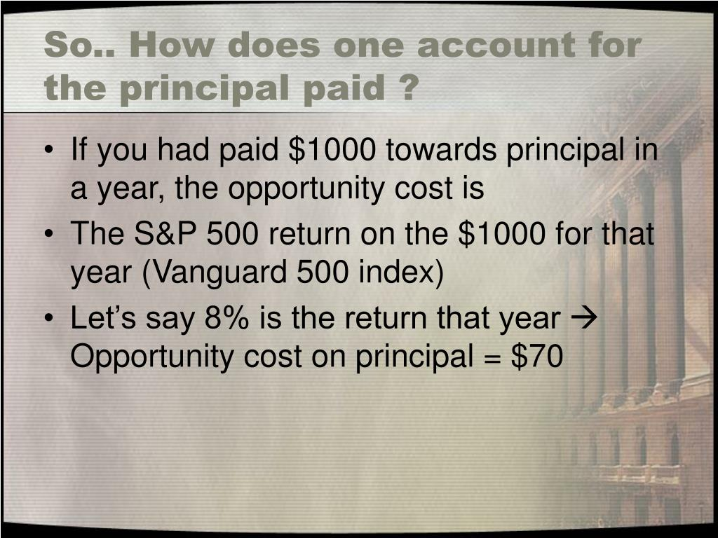 So.. How does one account for the principal paid ?