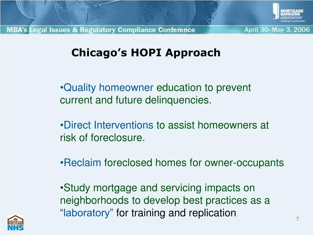Chicago's HOPI Approach
