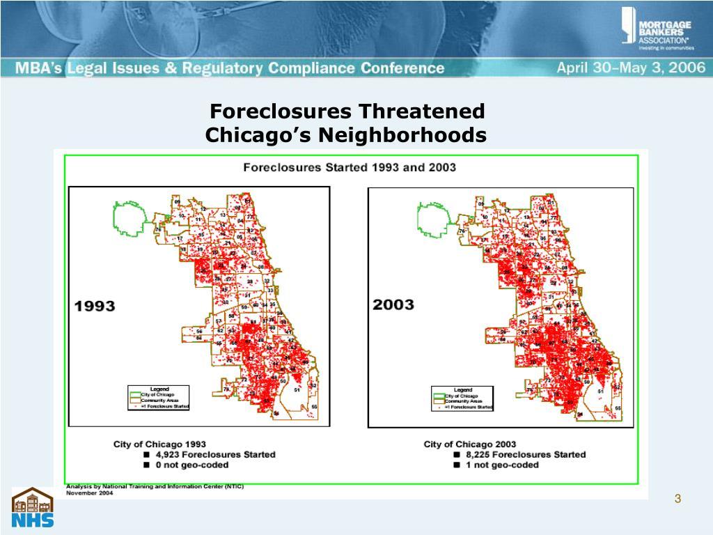 Foreclosures Threatened
