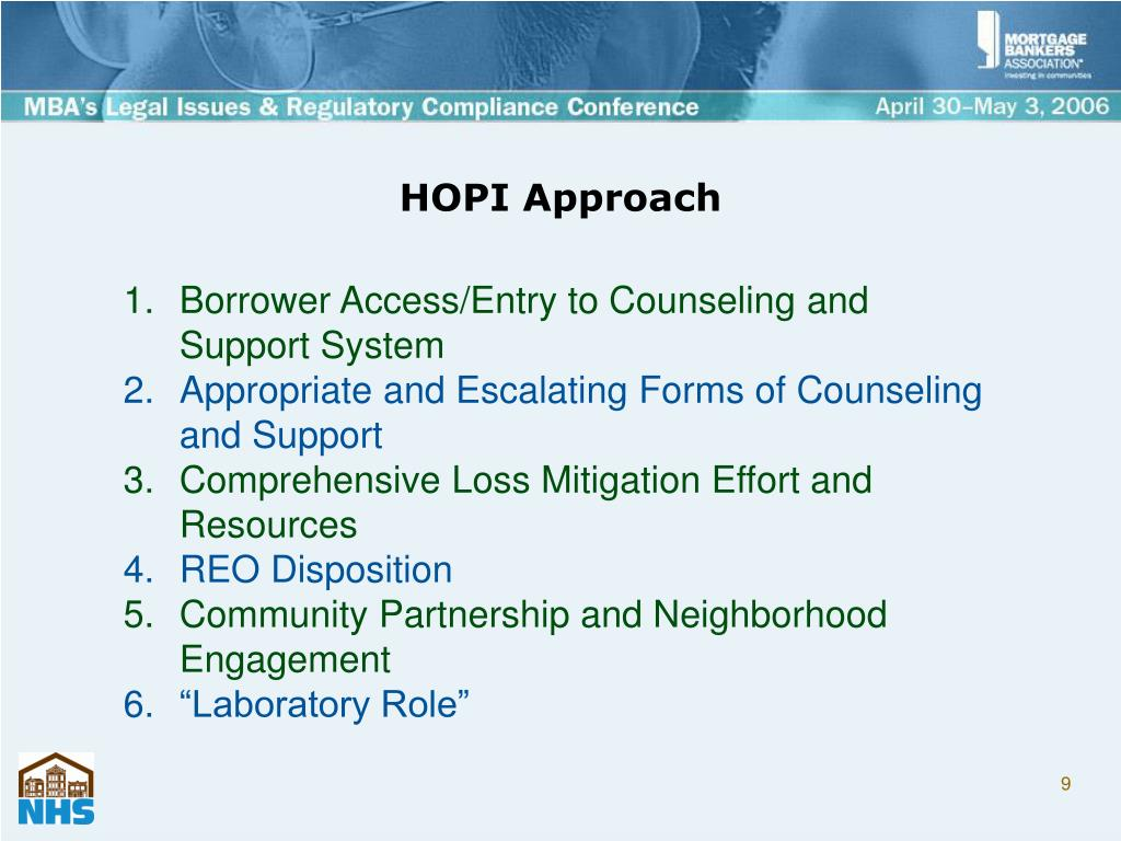 HOPI Approach
