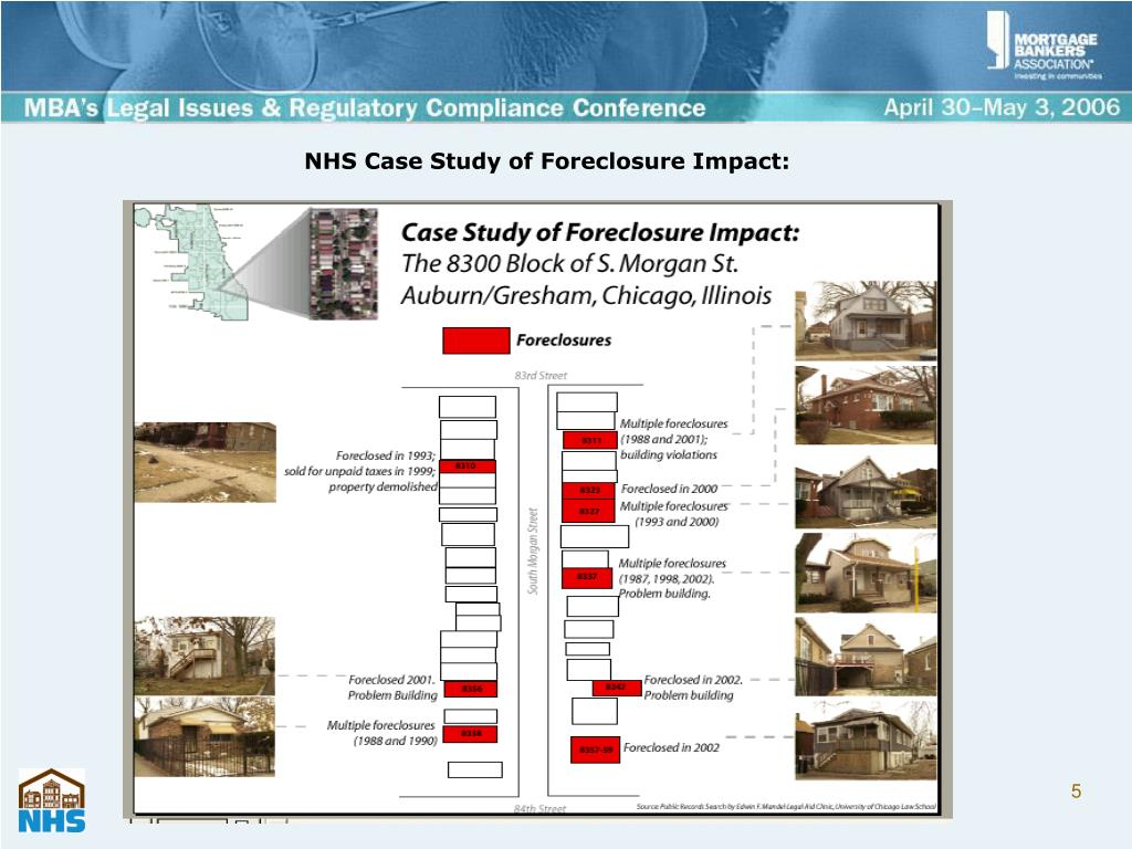 NHS Case Study of Foreclosure Impact: