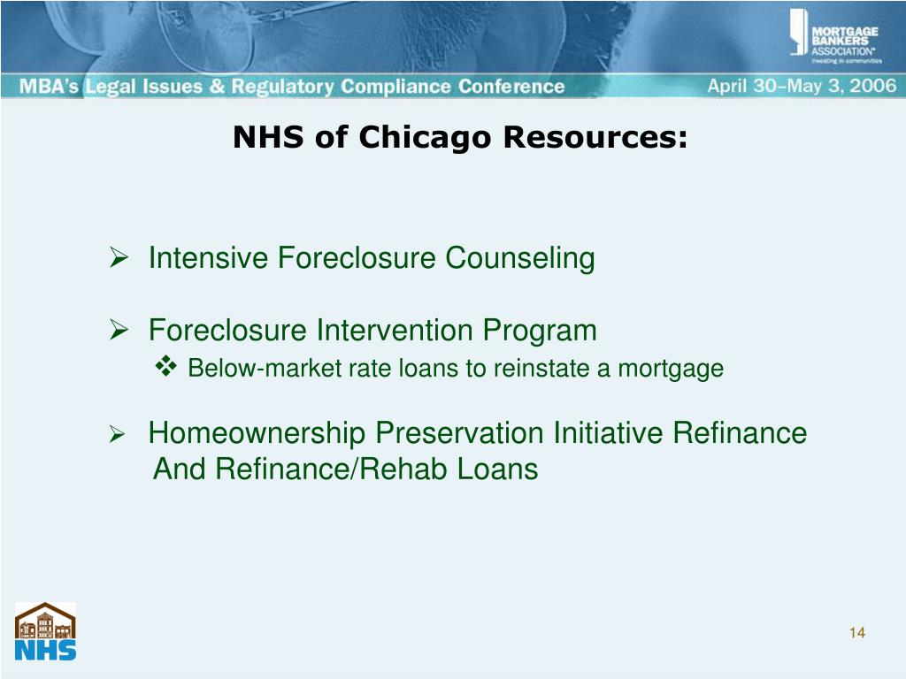 NHS of Chicago Resources: