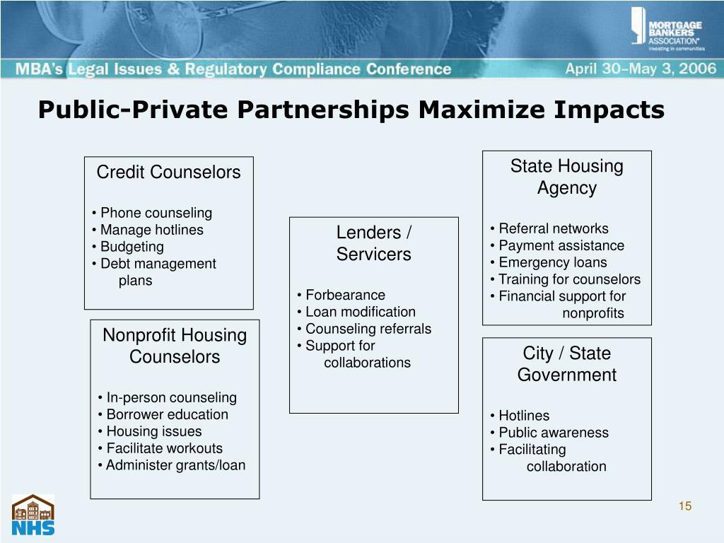 Public-Private Partnerships Maximize Impacts