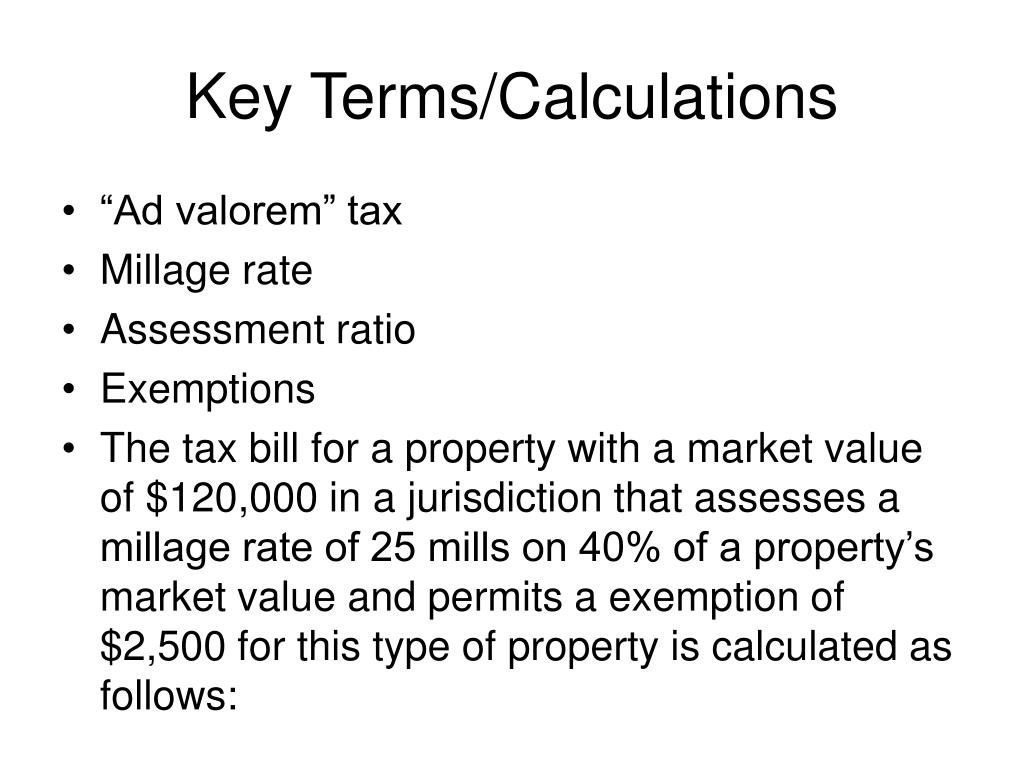 Key Terms/Calculations