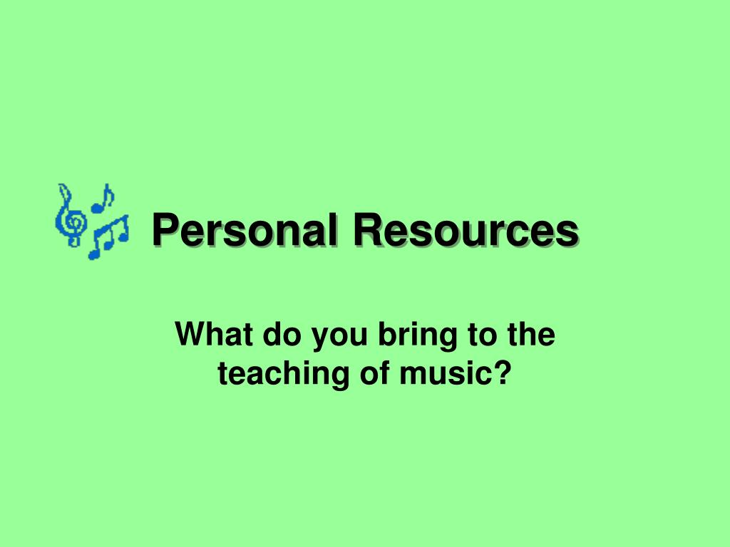 personal resources l.