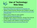 use of technology web sites
