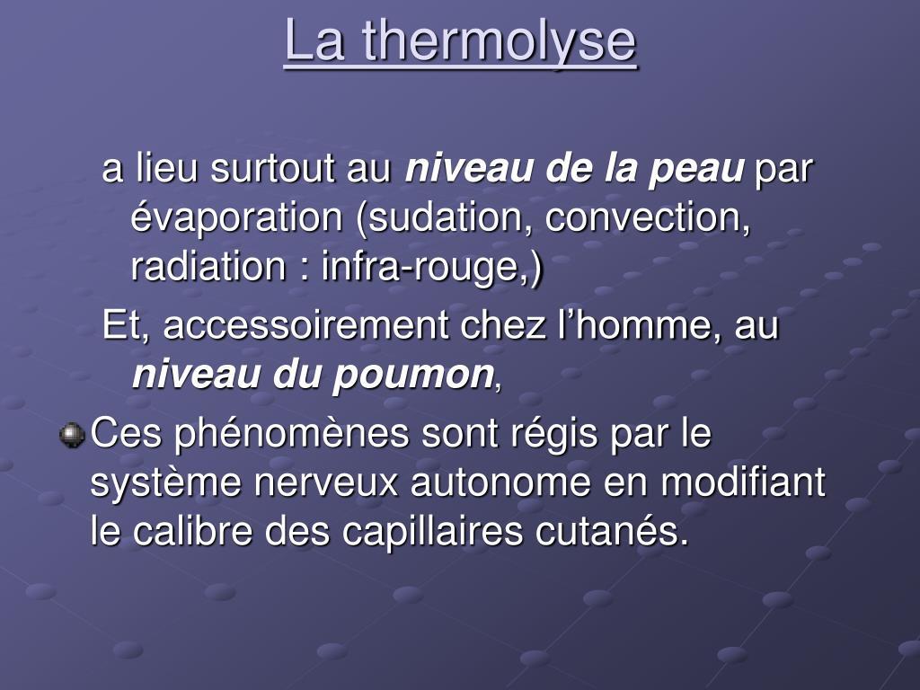 La thermolyse