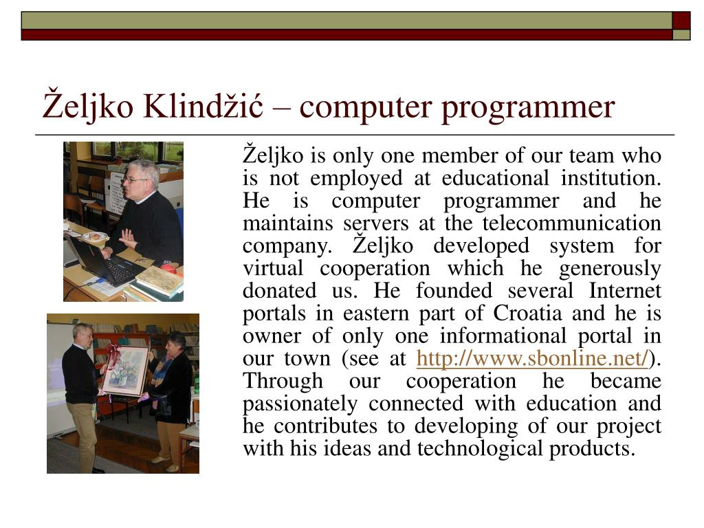 Željko Klindžić – computer programmer