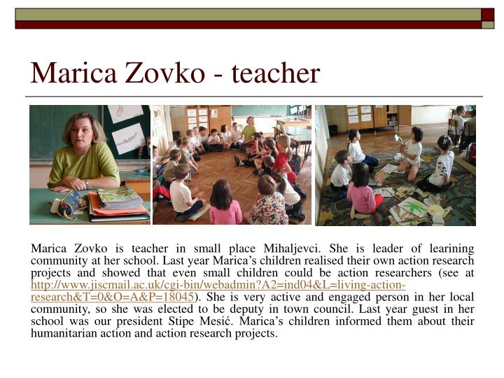 Marica zovko teacher