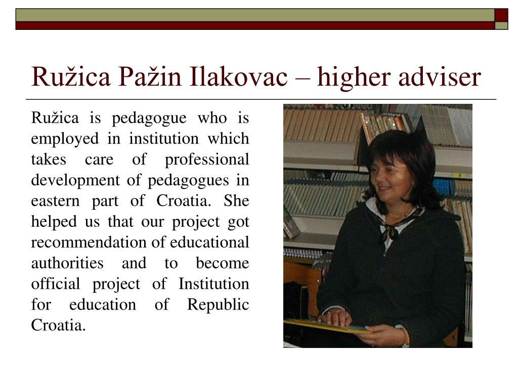 Ružica Pažin Ilakovac – higher adviser