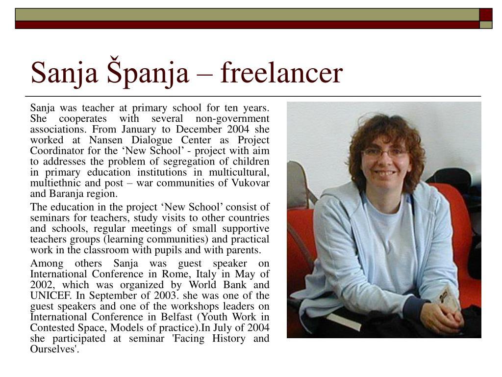 Sanja Španja – freelancer