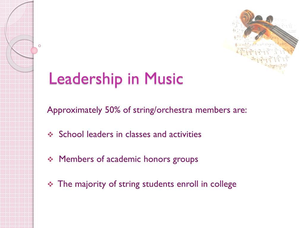 Leadership in Music